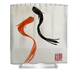 The Spirit Of Goldfish Shower Curtain