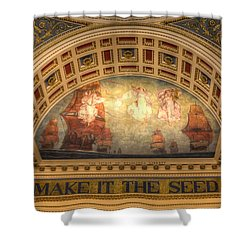 Shower Curtain featuring the photograph The Spirit Of Religious Liberty by Shelley Neff