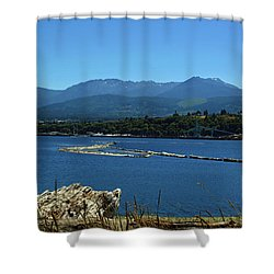 Shower Curtain featuring the photograph The Spit by Tikvah's Hope