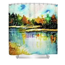 The Splendor And  Color Of Autumn Shower Curtain by Al Brown