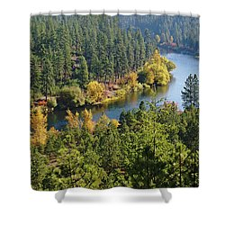 Shower Curtain featuring the photograph The Spokane River  by Ben Upham III