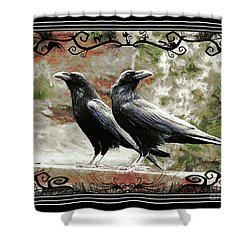 The Spooky Ravens Shower Curtain