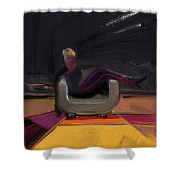 The Spy Shower Curtain by Russell Pierce