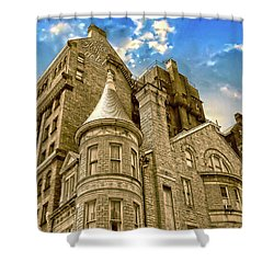 Shower Curtain featuring the photograph The Stafford Hotel by Brian Wallace