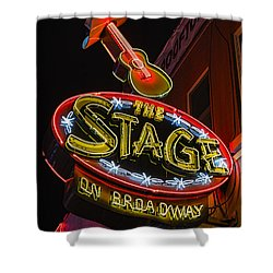 The Stage On Broadway Shower Curtain