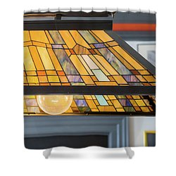 The Stained Glass Shower Curtain