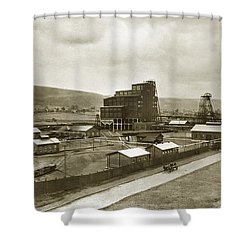 The Stanton Colliery Empire St. The Heights Wilkes Barre Pa Early 1900s Shower Curtain