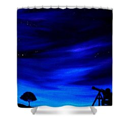 The Star Gazer Shower Curtain