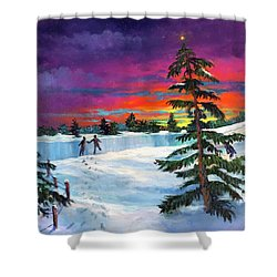 The Star/la Estrella Shower Curtain
