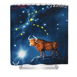 The Star Taurus Shower Curtain
