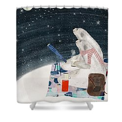 Shower Curtain featuring the painting The Stargazers by Bri B