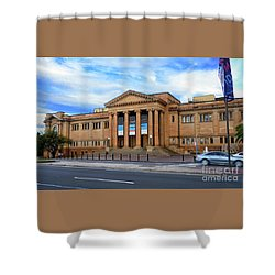 Shower Curtain featuring the photograph The State Library Of New South Wales By Kaye Menner by Kaye Menner