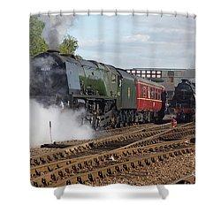 The Steam Railway Shower Curtain