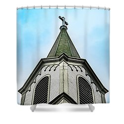 The Steeple Shower Curtain by Onyonet  Photo Studios