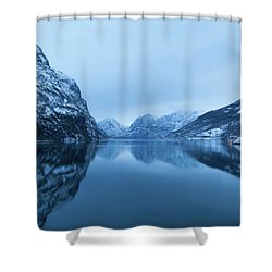 The Stillness Of The Sea Shower Curtain