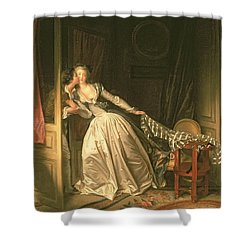The Stolen Kiss Shower Curtain by Jean-Honore Fragonard