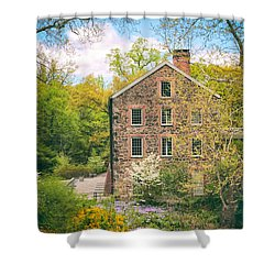 The Stone Mill In Spring Shower Curtain by Jessica Jenney