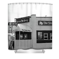 Shower Curtain featuring the photograph The Stone Pony - One Way by Colleen Kammerer