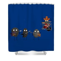 Shower Curtain featuring the digital art The Stones by David Dehner