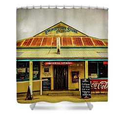 Shower Curtain featuring the photograph The Store by Perry Webster
