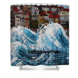 The Storm- Large Work Shower Curtain
