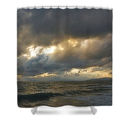 The Storm Comes Shower Curtain