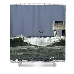 The Storm  Shower Curtain by Debra Forand