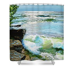 The Storm Is Gone Shower Curtain