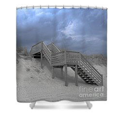 The Storm Is Here Shower Curtain
