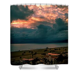 The Storm Moves On Shower Curtain