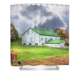 Shower Curtain featuring the digital art The Storms Coming by Sharon Batdorf