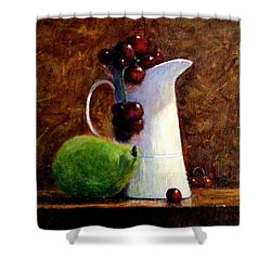 The Story Of A White Jug.. Shower Curtain by Cristina Mihailescu