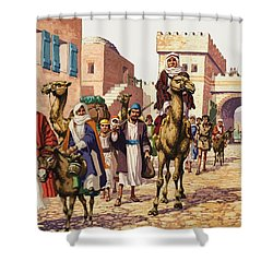 The Story Of Isaac  Shower Curtain by Pat Nicolle