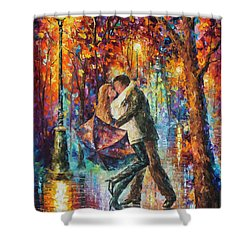 The Story Of The Umbrella Shower Curtain by Leonid Afremov