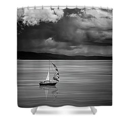 The Strait Of Georgia Shower Curtain