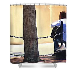 The Street Musician Shower Curtain