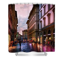 The Streets Of Florence Shower Curtain