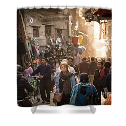 The Streets Of Kathmandu Shower Curtain