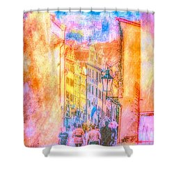 The Streets Of Prague Shower Curtain by Andreas Thust