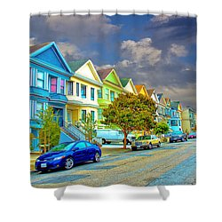 The Streets Of San Francisco Shower Curtain