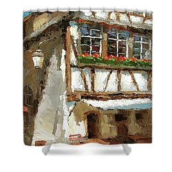 The Streets Of Strasbourg Shower Curtain by Dmitry Spiros
