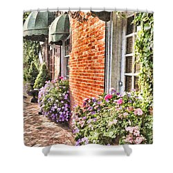 The Streets Of Summer Shower Curtain