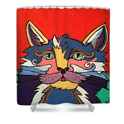 The Streetwise Old Colorful Cat Prints By Robert Erod Shower Curtain
