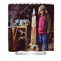 The Stretching Board Shower Curtain