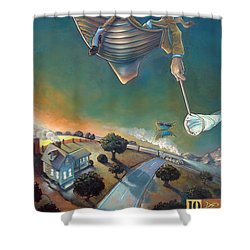 The Strife Of Wanderlust In A Dream Shower Curtain by Patrick Anthony Pierson