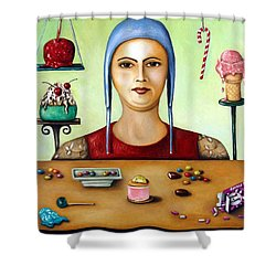 The Sugar Addict Shower Curtain by Leah Saulnier The Painting Maniac