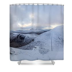 The Summit And Down The Wall Shower Curtain