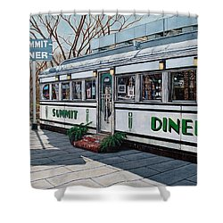 The Summit Diner Shower Curtain