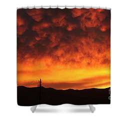 The Sun Goes Down Shower Curtain