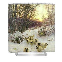 The Sun Had Closed The Winter's Day  Shower Curtain by Joseph Farquharson